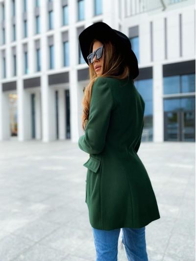 Płaszcz damski zielony