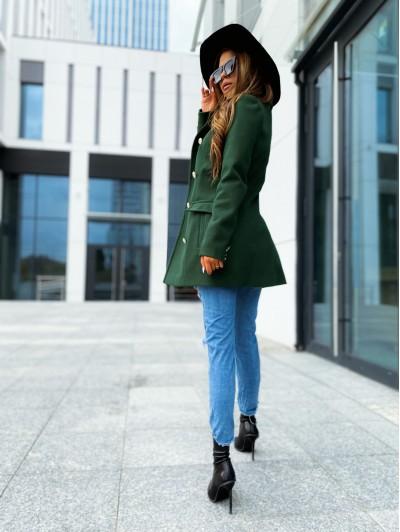 Płaszcz damski zielony krótki
