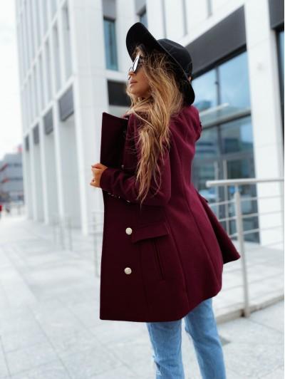Płaszcz damskie burgund Denver