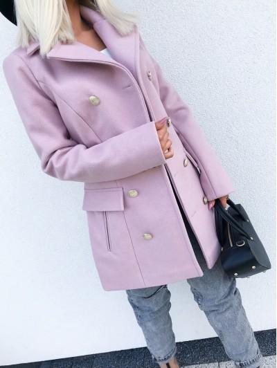 Płaszcz Różowy jesienno zimowy